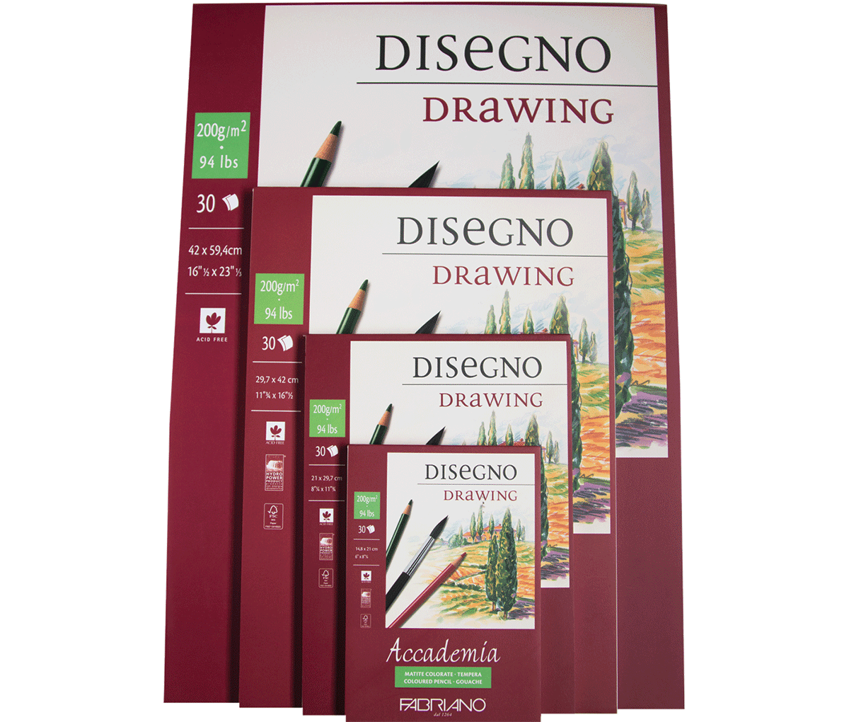 Fabriano Accademia Sketch Pads Bricha Paper Products
